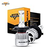 #6: Auxbeam LED Headlight Bulbs F-S2 Series LED Headlights with 2 Pcs of H4 LED Conversion Kits72W 8000lm Hi-Lo Beam