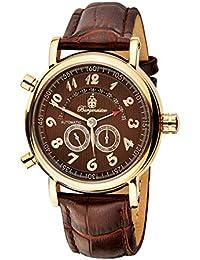 Burgmeister Nevada BM105-395 - Reloj de caballero automático, correa de piel color marrón