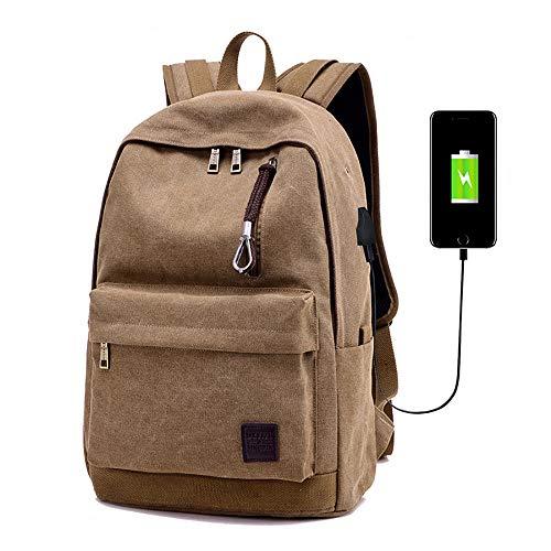 meridy Zaino per Laptop con Porta di Ricarica USB,Daypacks Casual, Zaino da Viaggio di Moda,Zaino per Studenti Universitari,Borsa da Alpinismo,Adatta Laptop e Notebook da 15,6 Pollici Marrone