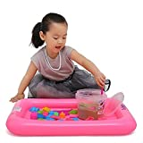 Inflatable Large Castle Sand Box Form Table Play Sand Tray for Kids Random Color