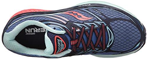 Saucony Guide 9, Chaussures De Course Multicolores Pour Femme (cobalt / Corail / Bleu)