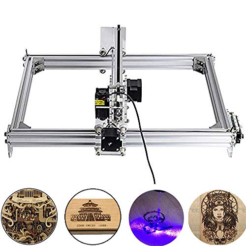 Mcwdoit 5500mw Carving Machine DIY Kit, 3040 Desktop USB Laser Engraver Carver, Engraving Area 300mm * 400mm Accuracy Adjustable Laser Power Printer Carving & Cutting with Protective Glasses -