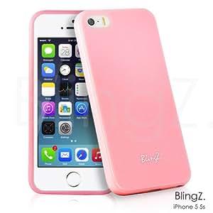 TheBlingZ.® silicone TPU Housse Etui Coque iPhone 5 5S - Silicone Étui Housse Protecteur Case - Rose