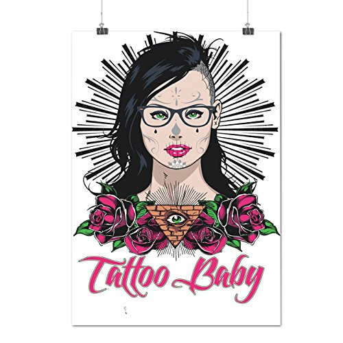 Tätowierung Baby Mädchen Mode Kalifornien UNS Mattes/Glänzende Plakat A3 (42cm x 30cm) | Wellcoda (Kalifornien Kostüme)