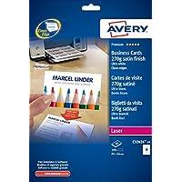 Avery C32026–Pack de 10feuilles de cartes de visite, 85x 54mm, blanc