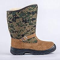 Zapatos Invierno Mujer Botas De Nieve,Protección Del Frío Invierno Tubo Corto Camuflaje Verde Suave Caliente Confortable De Gran Ayuda Tubo Medio De Amortiguación Botas De Algodón Antideslizante