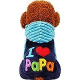 O-center Love Papa Weihnachtskostüm für Hunde und Katzen, für Weihnachten, Halloween, Größe M