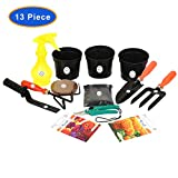 """#4: KRAFT SEEDS 9 PIECES GARDEN TOOLS SET WITH 2 KRAFT SEEDS PKTS GARDENING TOOLS WITH ORGANIC MANURE AND KRAFT AGRO PEAT FOR FAST GERMINATION AND ALSO SPRAYER PUMP (250ml.) THIS SPRAYER PUMP IS A USED TO SPRAY A LIQUID OR WATER. IN GARDENING TOOLS SET GARDEN TROWEL ,PRUNERS ,CULTIVATOR , KHURPI FOR SMALL ,FORK AND BLACK POT 3"""" (3pcs SET) AND KRAFT SEEDS AFRICAN MARIGOLD ORANGE AND ZINNIA FLOWER PKTS"""