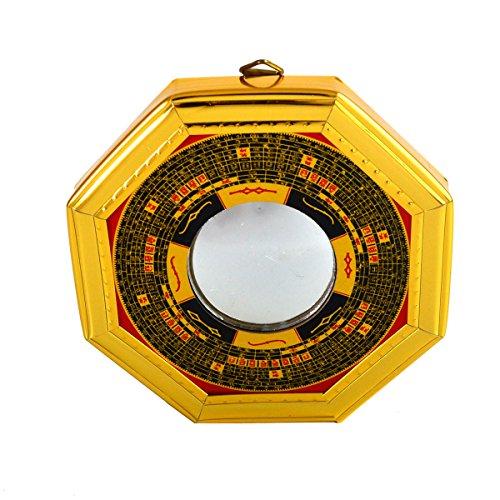Feng Shui Bagua Konvex Spiegel Pakua W mit rotem mxsabrina Armband SKU: J2322