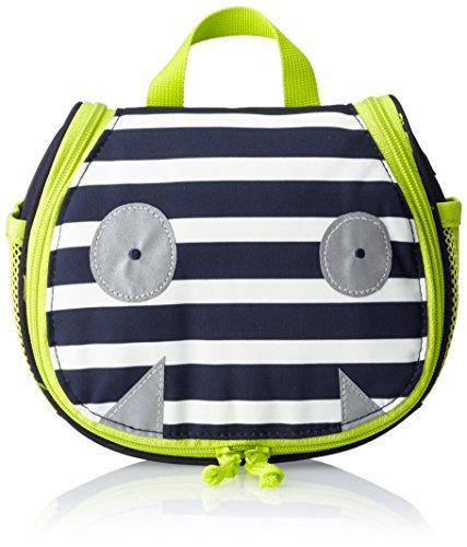Lässig Mini Washbag Kulturtasche/Waschbeutel zum Hängen, Little Monsters, Bouncing Bob Navy Türkis