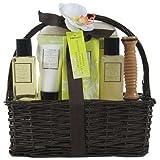 Gloss!, Cestino regalo con prodotti da bagno, aroma: Basmati e Foglia di Palma, 6 pz., 640 g