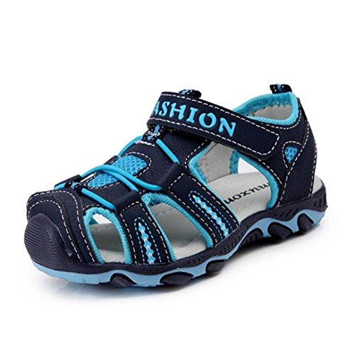 Hot sale !sandali a punta chiusa unisex bambini scarpe da tennis all'aperto dei sandali per bambino estate beach pool sneakers sportivi antiscivolo bambino delle taglie (blu scuro, eu:27)