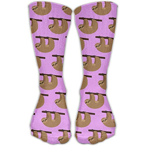 Personalisierte kühle Winter warme Strümpfe Faultier hängen Muster Neuheit Crew Knöchel Kleid passt Schuh Damen Fitness kniehohe Socke -