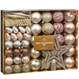 Brand New Christmas Tree Decoration Set 50pc - Rose Gold