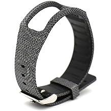 Woodln Replacement Band Wrist Strap para Samsung Galaxy Gear Fit R350 Smart Watch (New Black Cross)
