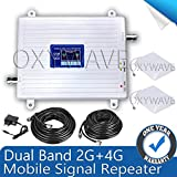 OXYWAVE High Gain Dual Band 2G /4G Mobile Signal Booster for All Network
