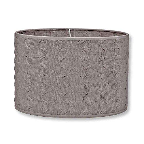 Baby's Only - Pantalla para lámpara de techo o de pie, tricotada, 30 cm, incluye cable para colgar pardo