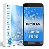 EAZY CASE 6X Bildschirmschutzfolie für Nokia Lumia 1520, nur 0,05 mm dick I Bildschirmschutz, Schutzfolie, Bildschirmfolie, Transparent/Kristallklar