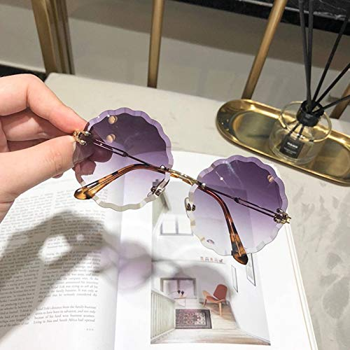 ALEMIN Modische Sonnenbrille, Polarisierte Sonnenbrille für den Fahrradgebrauch,Sonnenbrille mit marineblauen Gläsern für Damen, Sonnenbrille für die Modenschau für Punk-Freundinnen