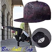 Comaie Cappello da Baseball Casual Hiphop Young Fashion Unisex sollevato  Hip-Hop Cappelli Cappelli per 10dffa9a8f44