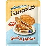 Nostalgic-Art 26176 USA Pan Cakes, Blechschild, 15 x 20 cm