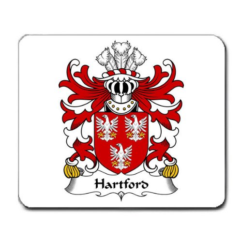 hartford-sir-walter-di-pembrokeshire-family-crest-coat-of-arms-mouse-pad
