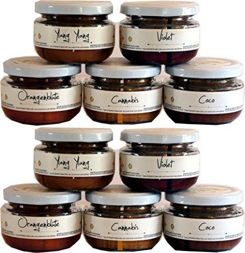 10 Duftgläser Raumerfrischer Duft Holz Aromatherapie nach Wahl Spar Restposten