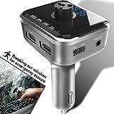 Bluetooth FM Transmitter mit Sicherheitshammer und Freisprecheinrichtung | Sprachnavigation | SD Karten Unterstützung | USB Stick Unterstützung