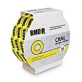 10x BMD - Cral Klebeband (Gelb - 50mm x 40lfm) zur Verklebung von Dampfsperrfolien, Dampfbremsfolien, Dampfbremsen