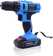 Walmeck-1 Rechargeable Electric Screwdriver Hand Drill 3 Mini Multi-functional Household Tool (21V Double Speed)
