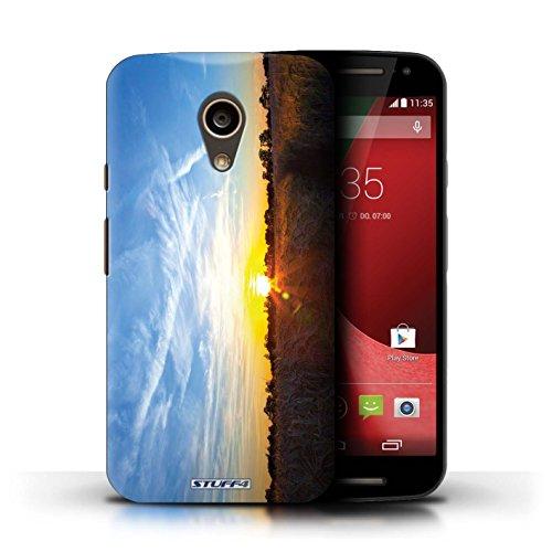 Kobalt® Imprimé Etui / Coque pour Motorola Moto G (2014) / arbres tropicaux conception / Série Coucher du Soleil Bleu ciel