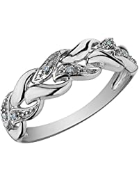 AG New Collection .925 Sterling Silver and Diamond Katrina Ring