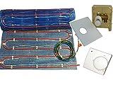 Fußbodenheizung '2systems' als kombinierte Warmwasser- und Elektroheizung von 2,5m² bis 10m², inkl. RTL Multibox und Komfort Regler, mit Heizleistung ca. 60-120 Watt/m² , Fläche:7.5 qm