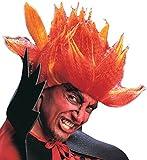 Perruque diable fou orange adulte Halloween