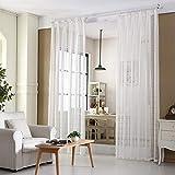 Panel de tratamiento de la ventana Cortina de gasa Jacquard Translúcido para sala de estar/patio con puerta corrediza de vidrio 98'L 39' W