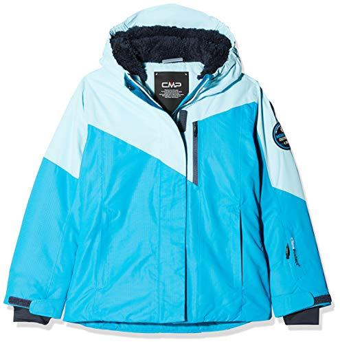 CMP Mädchen Wattierte 3000 Ripstop Skijacke Jacke, Blue Jewel, 164