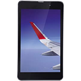 Renewed  iBall Slide Wings 4GP Tablet  8 inch, 16 GB, Wi Fi + 4G LTE, Voice Calling , Silver Chrome