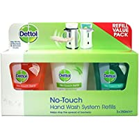 Dettol No-Touch Hand Wash System Refill Value Pack (3 x 250ml Refills)