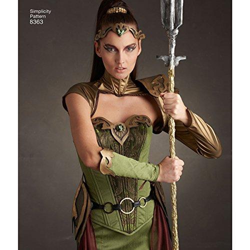 Simplicity Schnittmuster 8363| Misses 'Fantasy Ranger Kostüm | Größe (Muster Kostüm Mccalls)