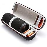 Étui Rigide Housse De Transport Sac pour JBL Charge 3 haut-parleur Sans fil Bluetooth Speaker. Adapté au Câble USB et au Chargeur Mural - Noir