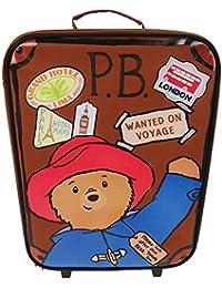 Paddington Bear Children's Luggage Paddington Box Wheeled Bag 18 liters Brown (Brown) PADD001001