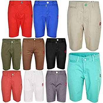 Boys Shorts Cotton Chino Shorts Fitted with Adjustable Waist Pants Kids Summer Clothes 3-14 Years