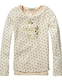 Scotch & Soda R'Belle 2-In-1 Style: Cold Dyed Tee with Inner Tank, T-Shirt Fille