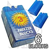 New Freezer Blocks - Suitable For Cooler Boxes & Bags - Cools & Keeps Food Fresh - In Packs of 3/6 (Pack of 3)