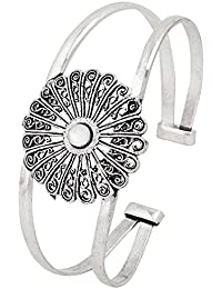 Valentine Gifts: Voylla Designer Cuff Bracelet With Floral Design, Girlfriend, Wife & Her Jewelry Gift For Her...
