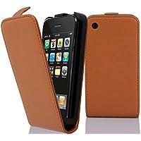 7bbe7cfe54a Cadorabo Carcasa para Apple iPhone 3 y iPhone 3 GS Funda en color marrón  coñac funda