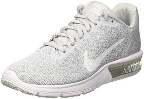 Nike Damen Wmns Air Max Sequent 2 Gymnastikschuhe, Gris (Platine Pur/Gris Loup/Platine Métallisé/Blanc), 38.5 EU (2 Wmns Schuhe Running)