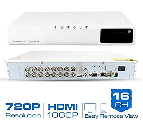 Gowe AHD hybride 16CH CCTV DVR H.26416Canaux 720p Enregistreur vidéo