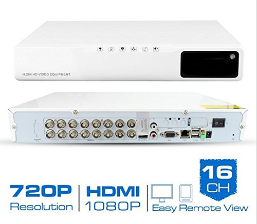Gowe 16CH Hybrid AHD CCTV DVR H.26416-Kanal 720P Digital Video Recorder HDMI Output Support iPhone Android Handy kein HDD (Ch 16 Dvr)