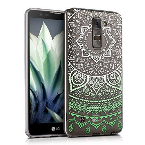 kwmobile LG Stylus 2 Hülle - Handyhülle für LG Stylus 2 - Handy Case in Mintgrün Weiß Transparent
